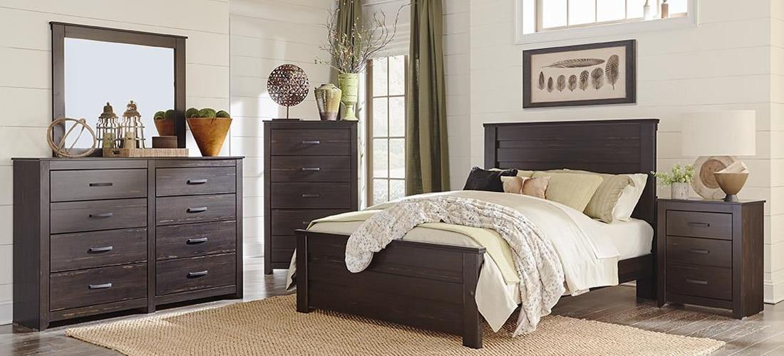 Lang Furniture Depere in distressed wood