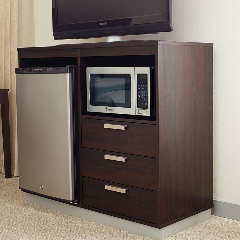 lang transitional hotel furniture 3-Drawer Micro Fridge Unit