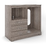 Deco Micro Fridge Combo Unit - Salt Oak