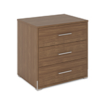 Edison 3 Drawer Chest Walnut
