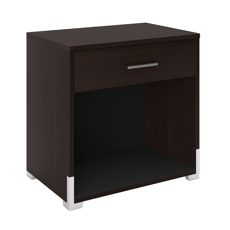 Edison Nightstand 1-Drawer Espresso