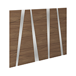 Edison Puzzle Panel Headboard Walnut