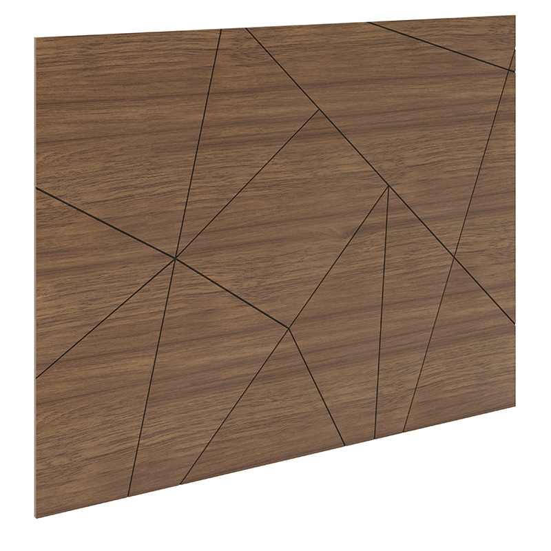 Edison Shattered Panel Headboard Walnut Queen